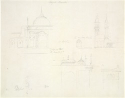 Drawing from a set of 16 architectural details in N. India made between 1786 and 1792 1815